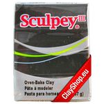 042 Black Sculpey III Clay / Noir / Negro