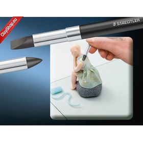 Fimo Professional Modelling Tool - Brush Tip and Flat Chisel