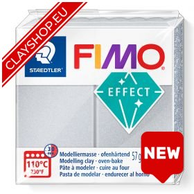 Fimo Effect Clay Pearl 817 Light Silver