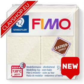Fimo Leather Effect Clay 029 Ivory