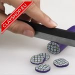 Fimo Blade Cutters, 1 x rigid blade. 1 x flexible blade (for curves). 1 x ripple blade