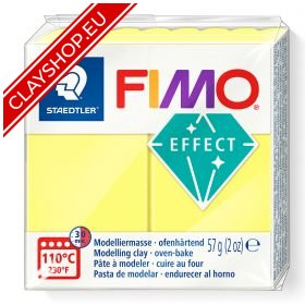 104-Fimo-Soft-Effects-Polymer-Clay-56g-Block-Translucent-Yellow