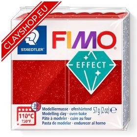 202-Fimo-Soft-Effects-Polymer-Clay-56g-Block-Glitter-Red