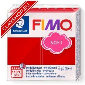 26-Fimo-Soft-Effects-Polymer-Clay-56g-Block-Cherry-Red
