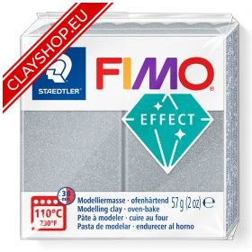 81-Fimo-Soft-Effects-Polymer-Clay-56g-Block-Metallic-Silver