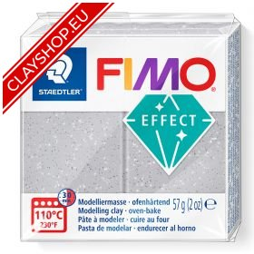 812-Fimo-Soft-Effects-polymer-Clay-56g-Block-Glitter-Silver